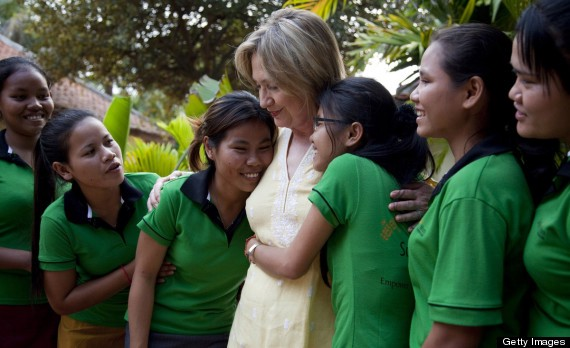 Image result for hillary helping