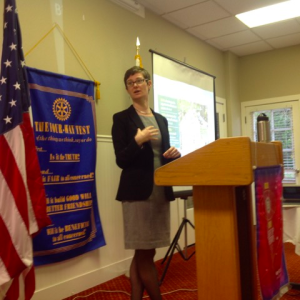 Jessica speakingJessica speaking to the Rotary Club in Northern California about the economics of a bike-friendly community to the Rotary Club in Northern California