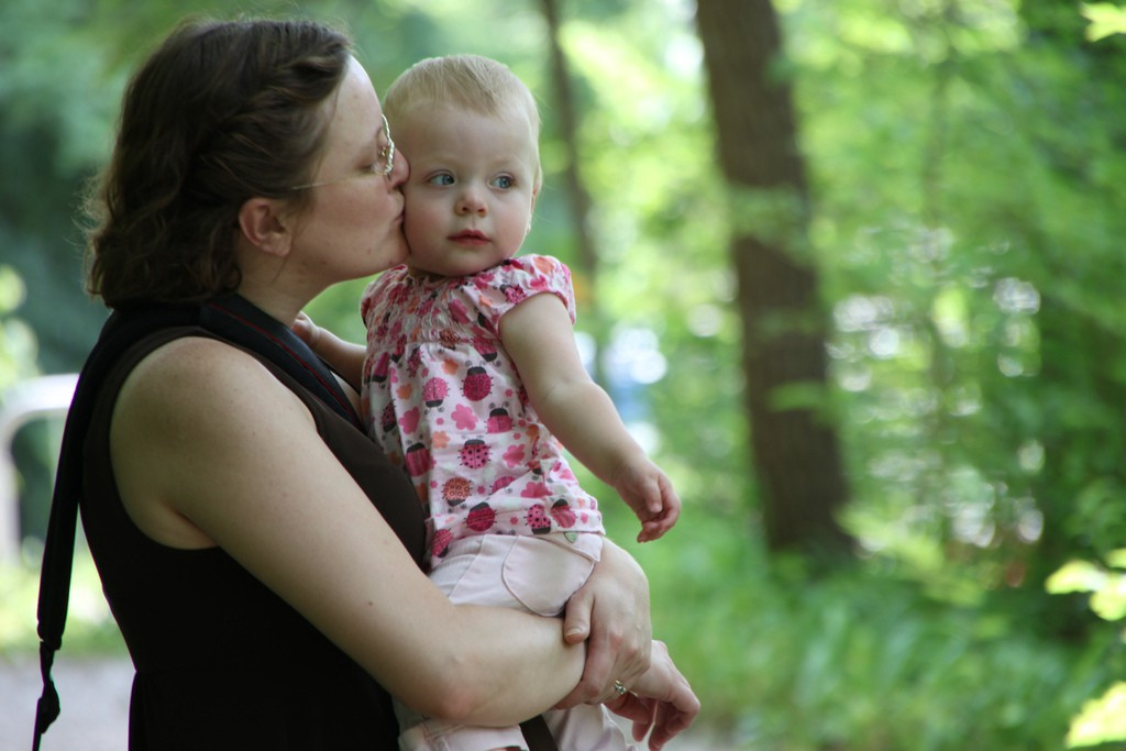 A mother bonding with her infant, showing the importance of foetal memory