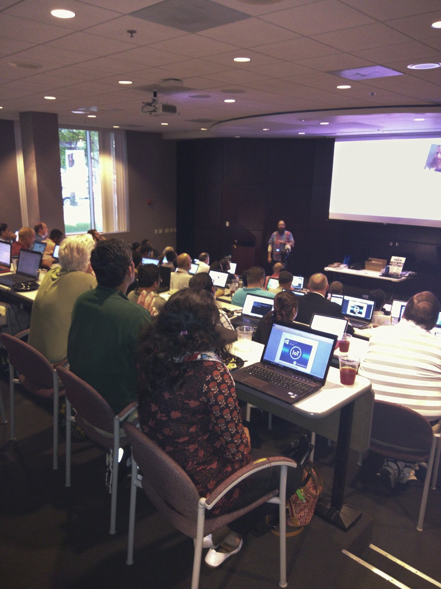 Aproximately 50 people attended the Charlotte IoT meetup featuring Microsoft Azure. (Photo: Dan Thyer)