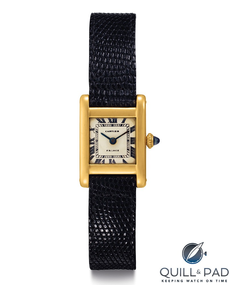 Christies lot 250: Cartier Tank owned by Jackie Kennedy Onassis