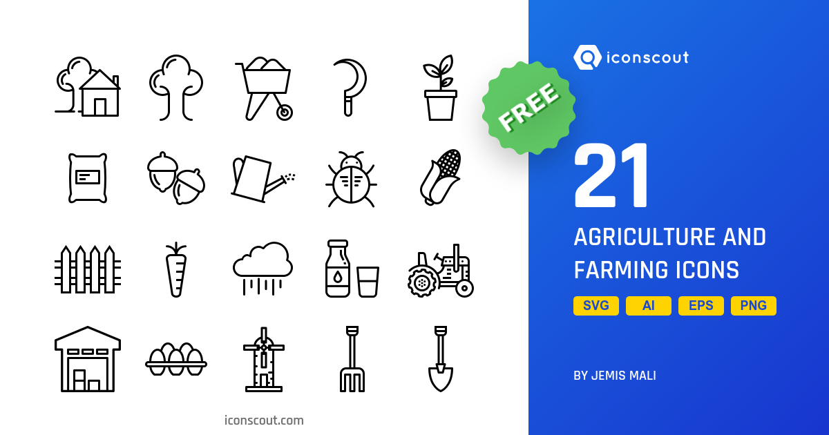 Agriculture And Farming icons by Jemis Mali