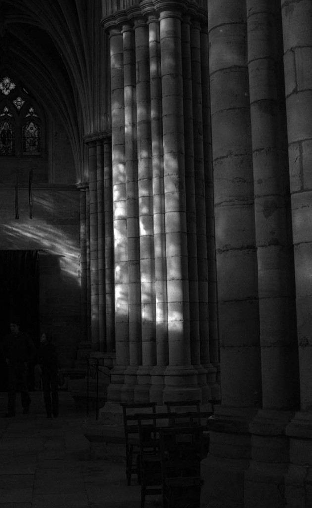 Low-Key Photograph of Exeter Cathedral.