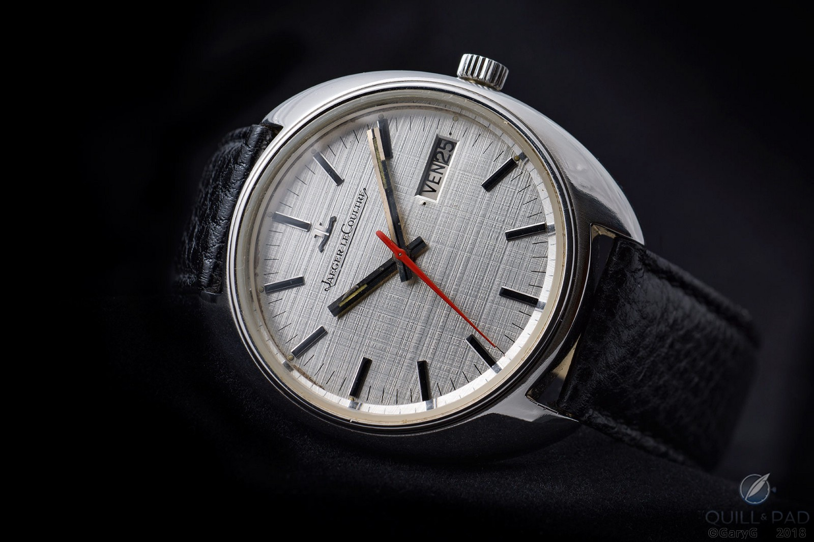 Jaeger-LeCoultre prototype watch with silver linen-patterned dial