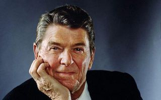 Portrait Of Ronald Reagan...WASHINGTON - DECEMBER 14: U.S. President Ronald Reagan poses in the White House December 14, 1981 in Washington, DC. (Photo by Arnold Newman/Getty Images)