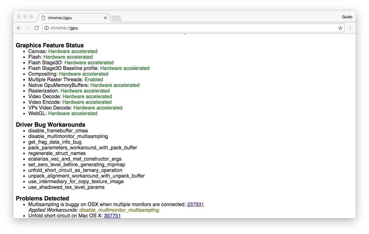 chrome webgl not supported mac
