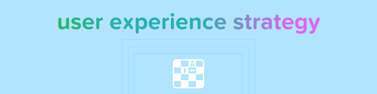 ux / user experience strategy banner