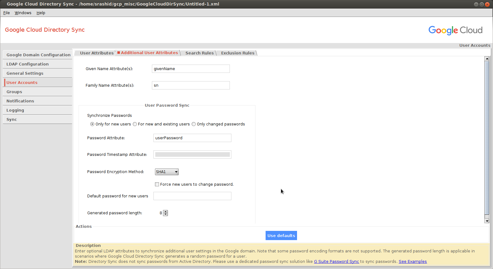 Setting up Google Directory Sync with OpenLDAP : Leapfrog