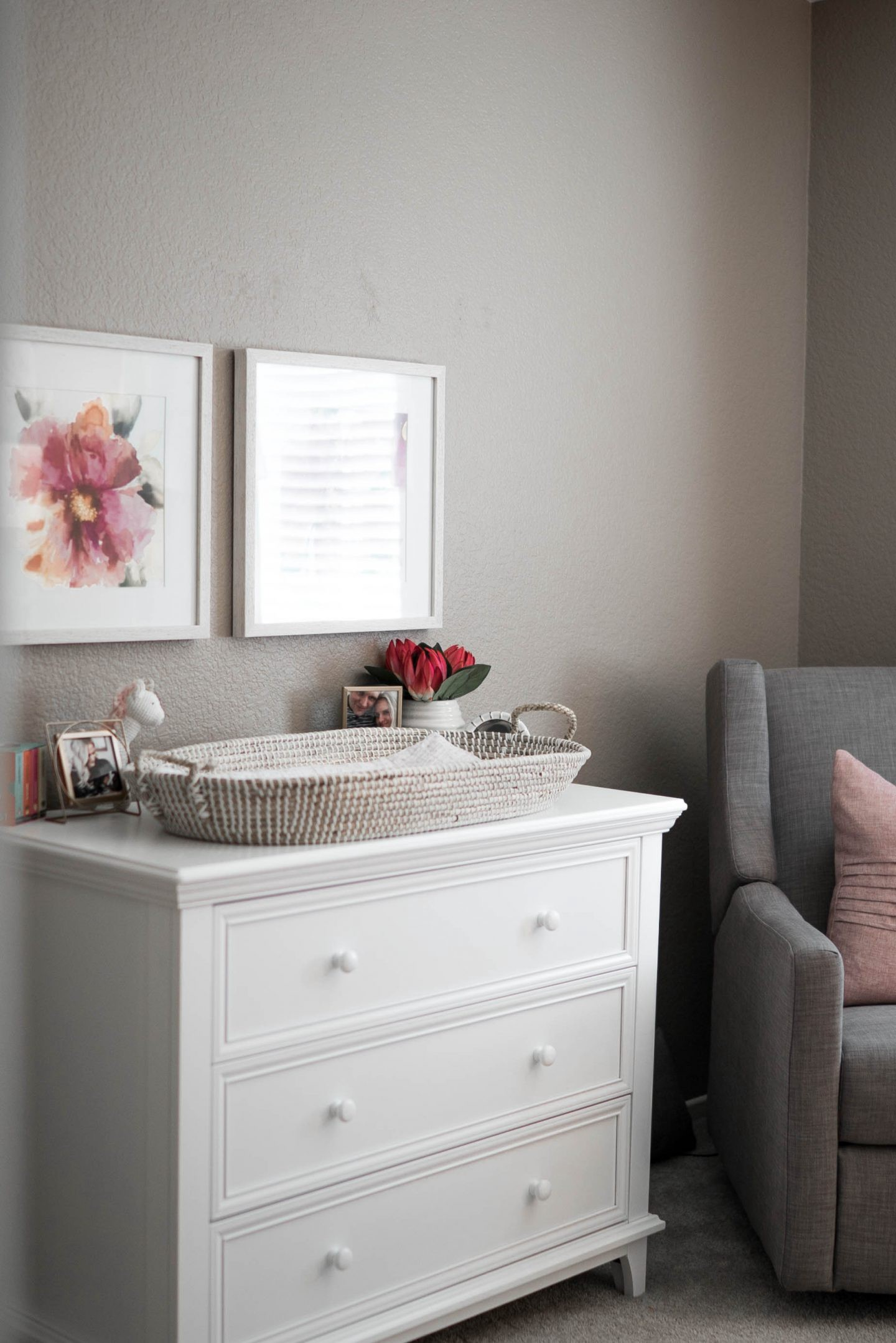 Nina's Baby Girl Nursery featured by popular Orange County lifestyle blogger, Dress Me Blonde