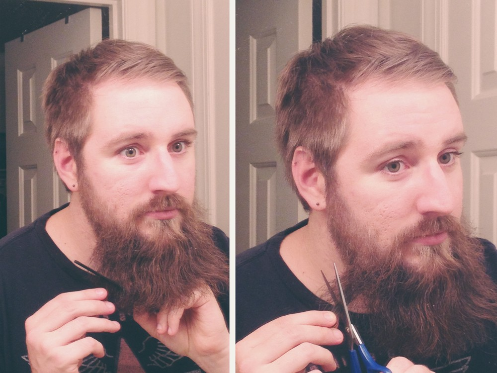 Short Sides Side Swept Hair Trimmed Mustache And Beard