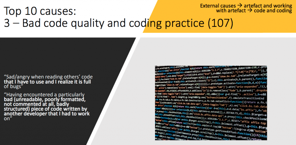 Low code quality and programming practice