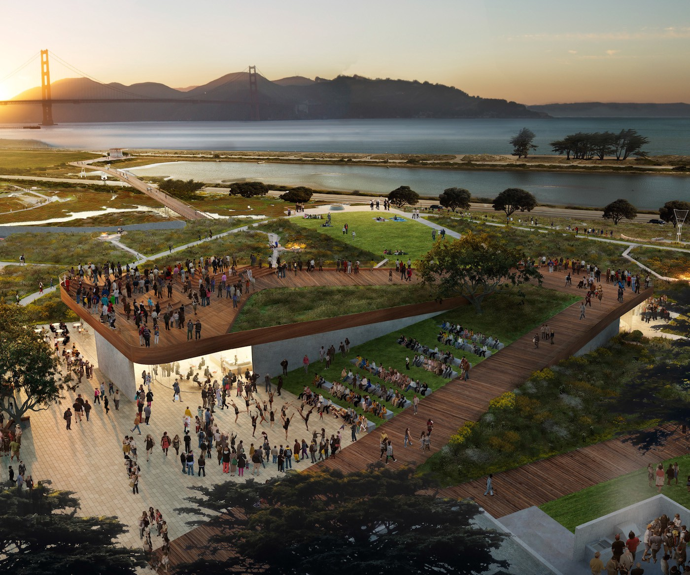 Just Released Plans For A New Presidio Park The Bold Italic San
