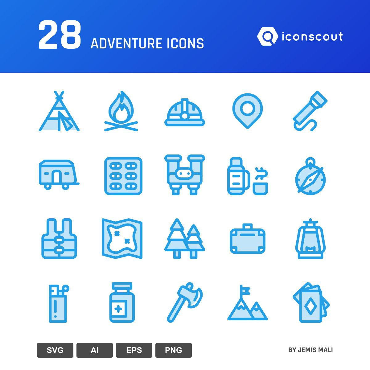 Adventure icons by Jemis Mali