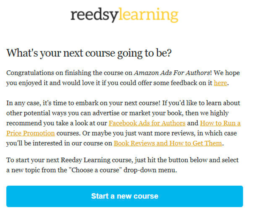 Reedsy Learning Email Marketing