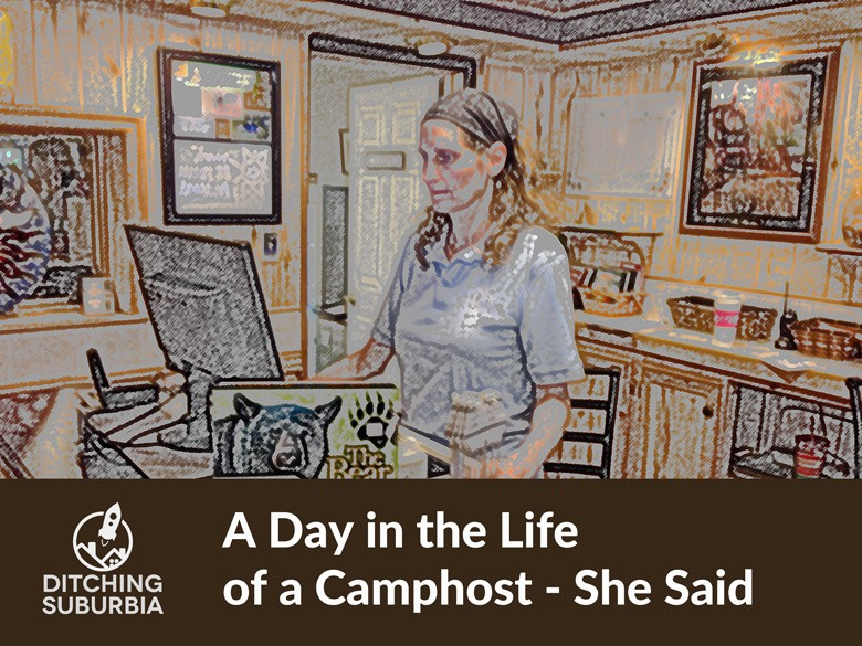 A day in the life of an office-bound camphost.