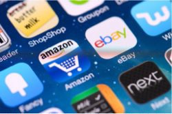 eCommerce marketplaces Amazon eBay app icons
