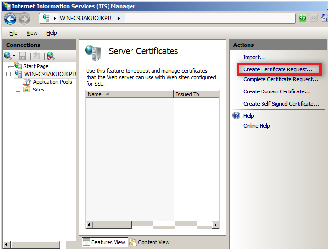 SSL Certificate Installation Guide on Windows Server 2008 (IIS 7.0)