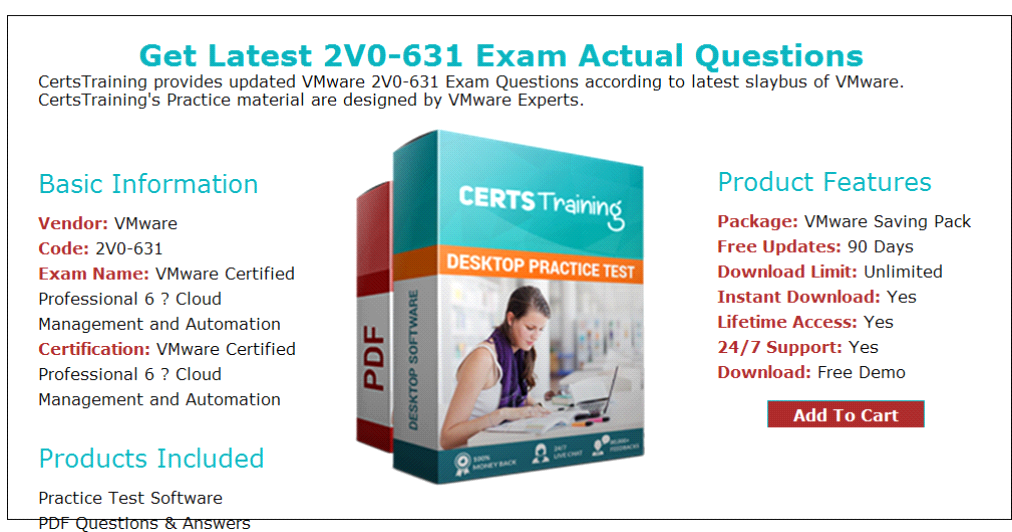 Vmware Certified Professional 6 Cloud Management 2v0631 Exam Qa