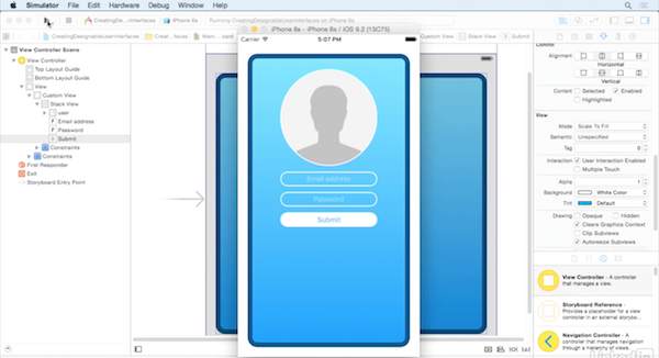 iOS UI Development with Visual Tools with Scott Gardner - Customize a designable user interface