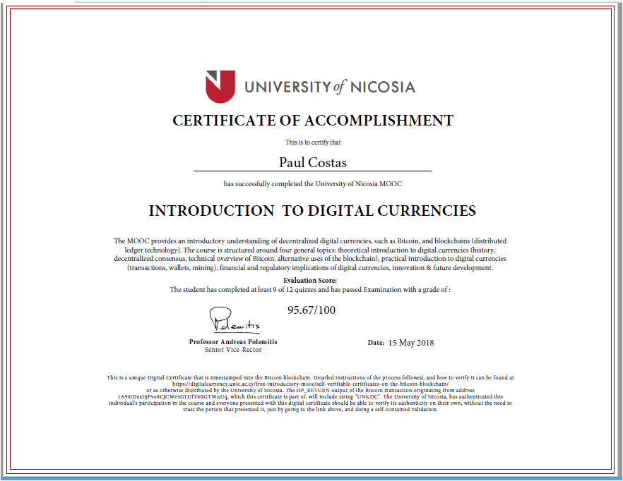 nicosia university issues students with blockchain validated grading