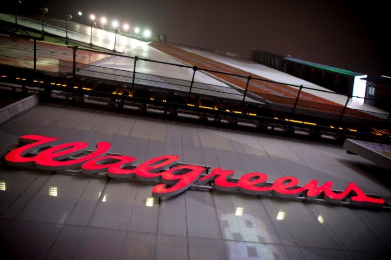 The logo of Walgreens is seen at their Times Square store in New York December 17, 2012. REUTERS/Andrew Kelly/File Photo