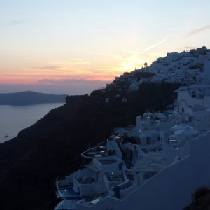 This was taken on my honeymoon in Santorini, Greece.