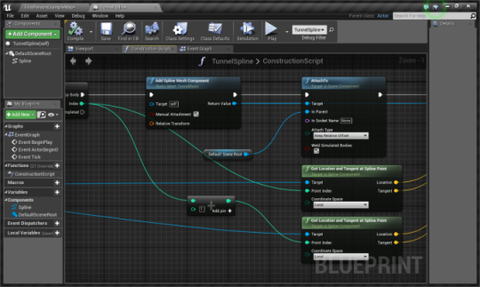 Ue4 understanding splines christian sparks medium the next section of the script highlighted here sets up the creation of the mesh or meshes along the spline points and the attachment of the ends of malvernweather Choice Image