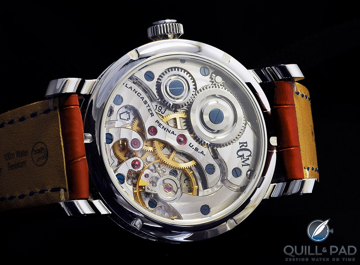 Caliber 801, RGM's own movement, beats at the heart of Chess in Enamel
