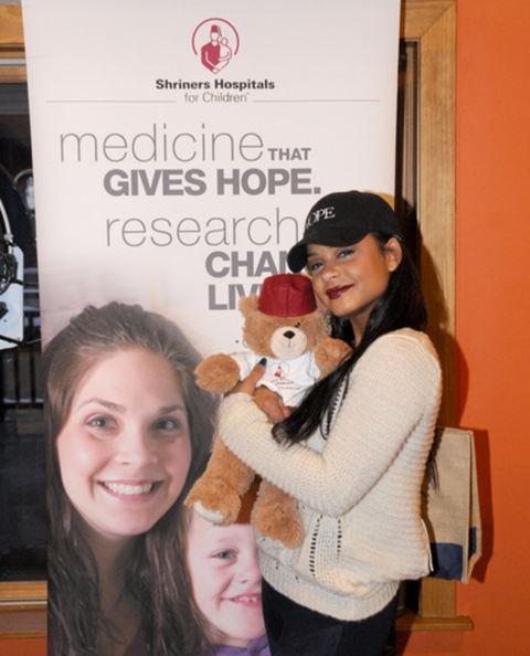 At Debbie Durkin's EcoLuxe Lounge, stars like Christina Milian learned all about Shriners For Children Medical Center's new location in Pasadena.