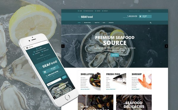 The Best Seafood Delicacies VirtueMart Theme
