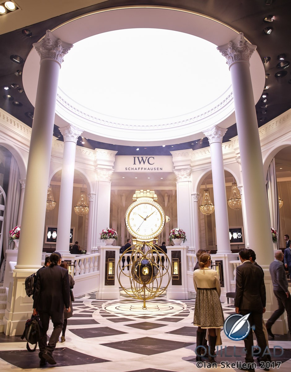 IWC's Florentine palazzo-themed booth at SIHH 2017