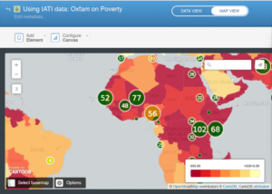 Oxfam Novib activities on poverty alleviation combined with Global Development Indicator data on povery levels