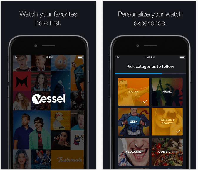 Vessel in the app store