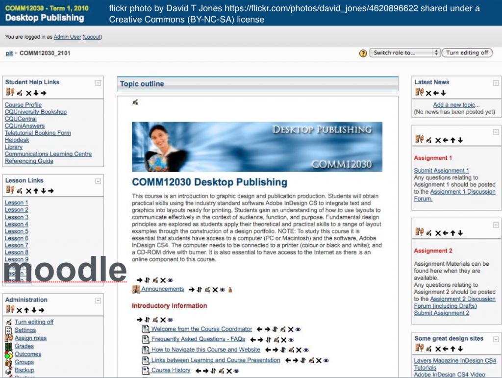 moodle screenshot