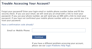 I forgot my email password for facebook