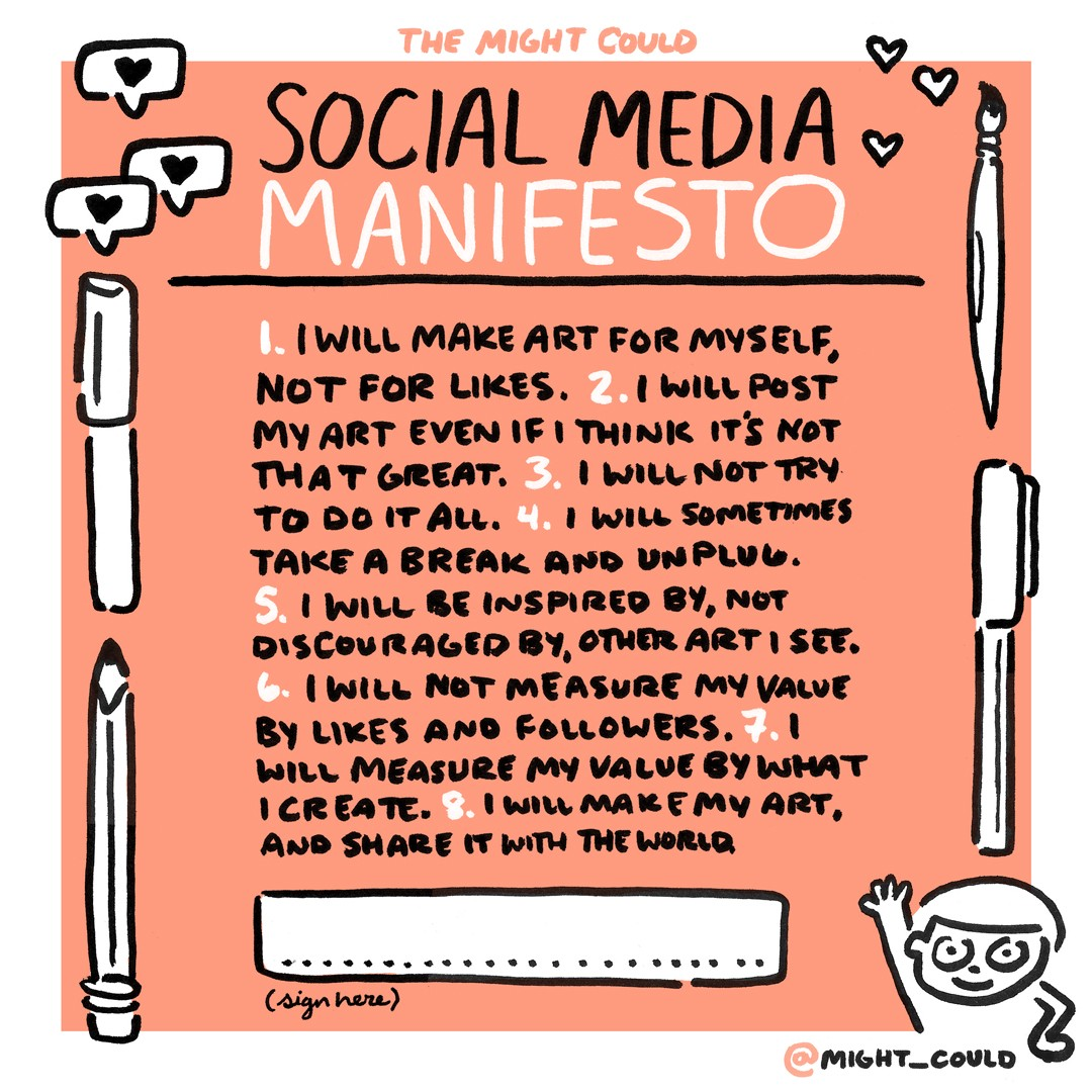 Safe Self Determined And Social In >> Social Media For Artists A Manifesto Prototypr