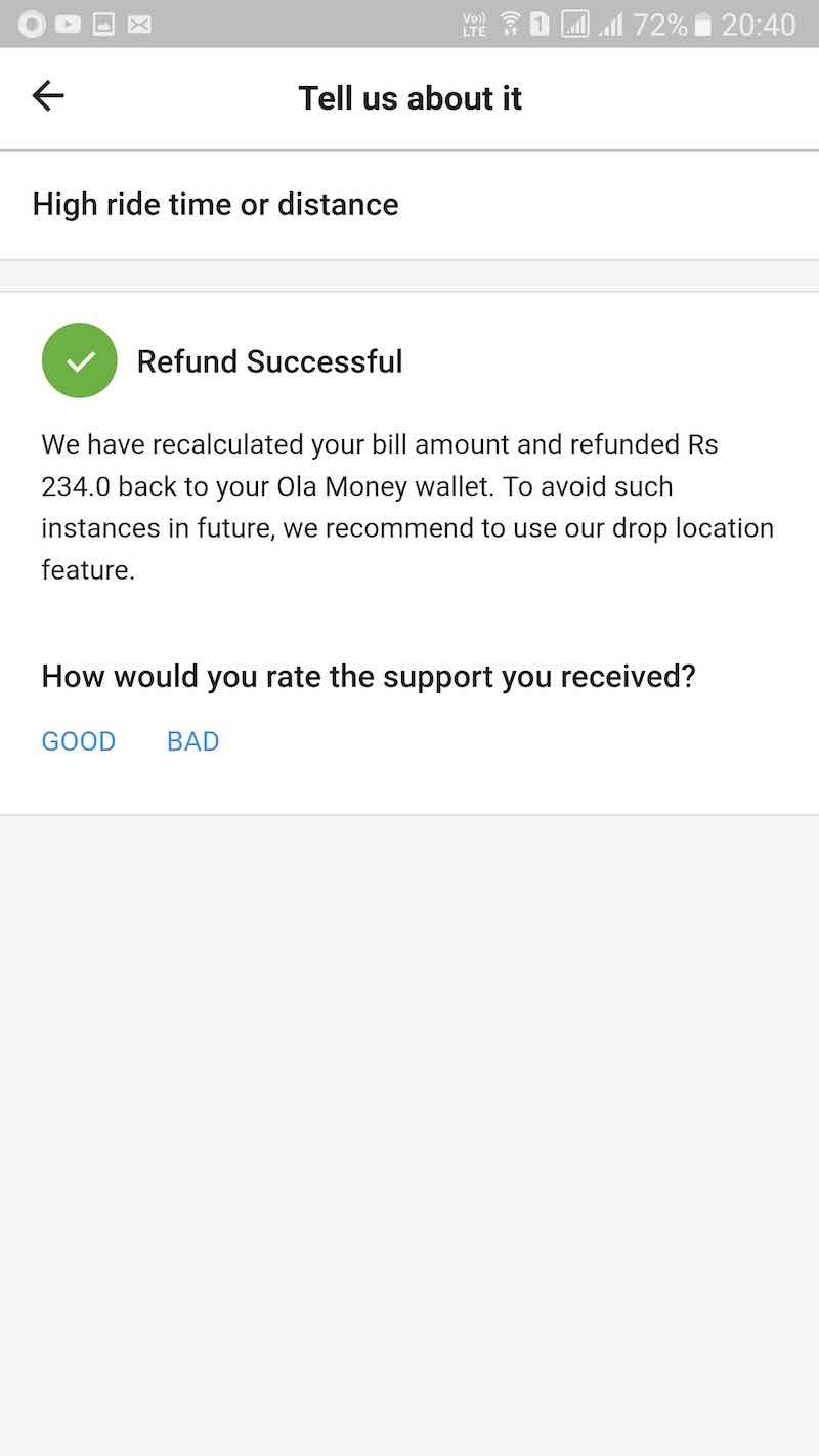 Spirit Airlines Baggage Receipt Product Review  Ola Apps Verbiage Glitches Improvement  Part  Deposit Receipt Template Excel with How To Write Payment Terms On Invoice Excel Product Locus  Ola App Review  Pending Invoice Payment Request Letter Word