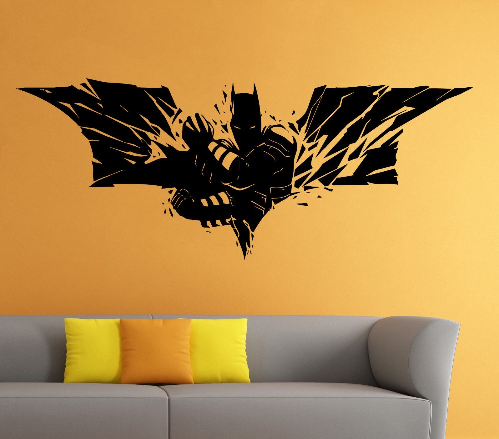 Batman Wall Vinyl Decal The Dark Knight Sticker Superhero Atr Home ...