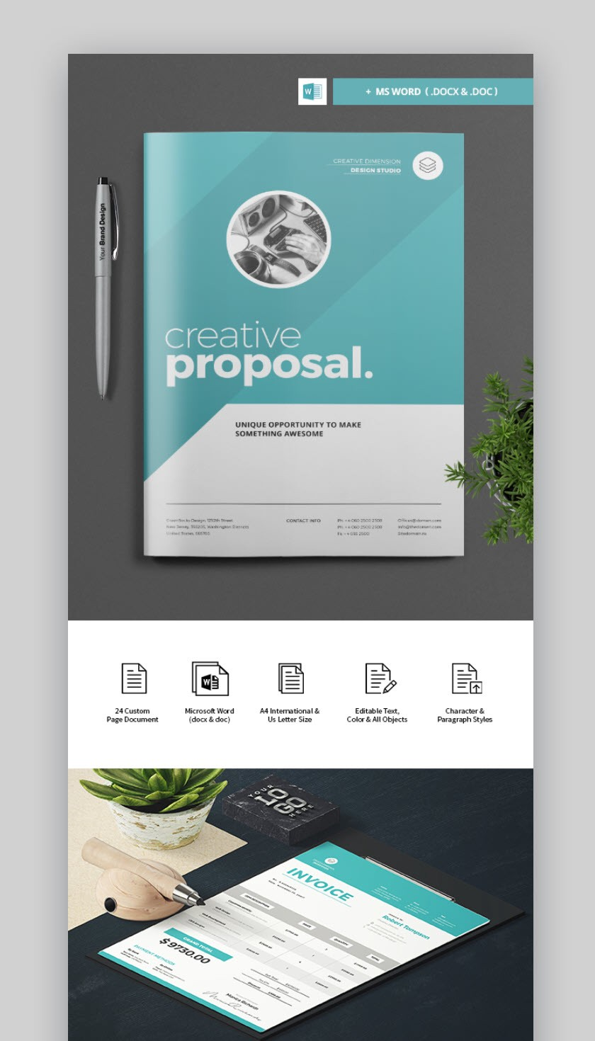 20 best proposal templates best digital themes medium professional business proposal template with cover design wajeb Images