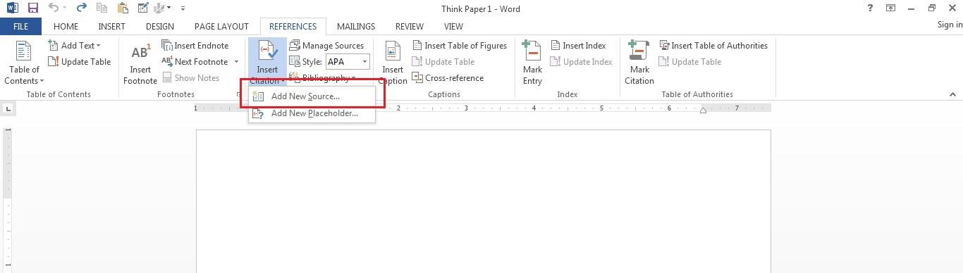 microsoft word update references all