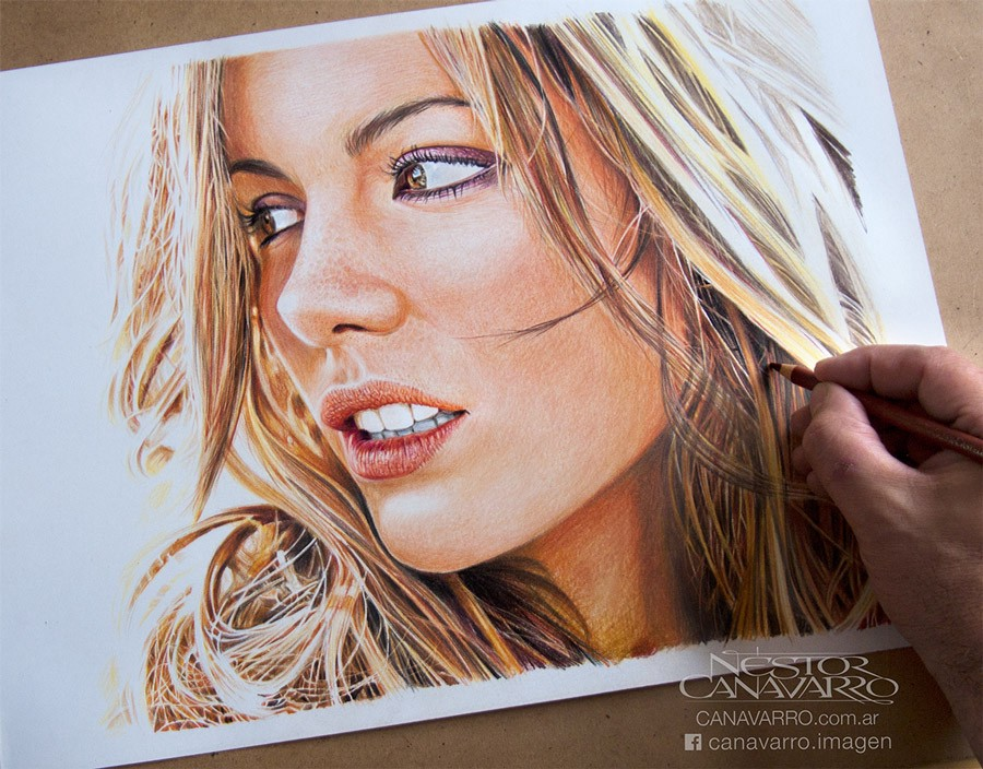 Incredible Celebrity Illustrations By Néstor Canavarro - Amazing hyper realistic pencil drawings celebrities nestor canavarro