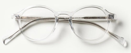 Classic Specs Beaumont Glasses in Crystal.