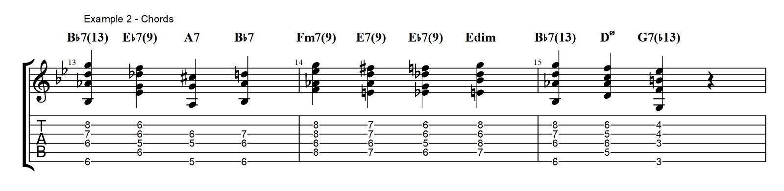 Walking Bass and Chords — Bb Blues — Jazz Guitar Lesson