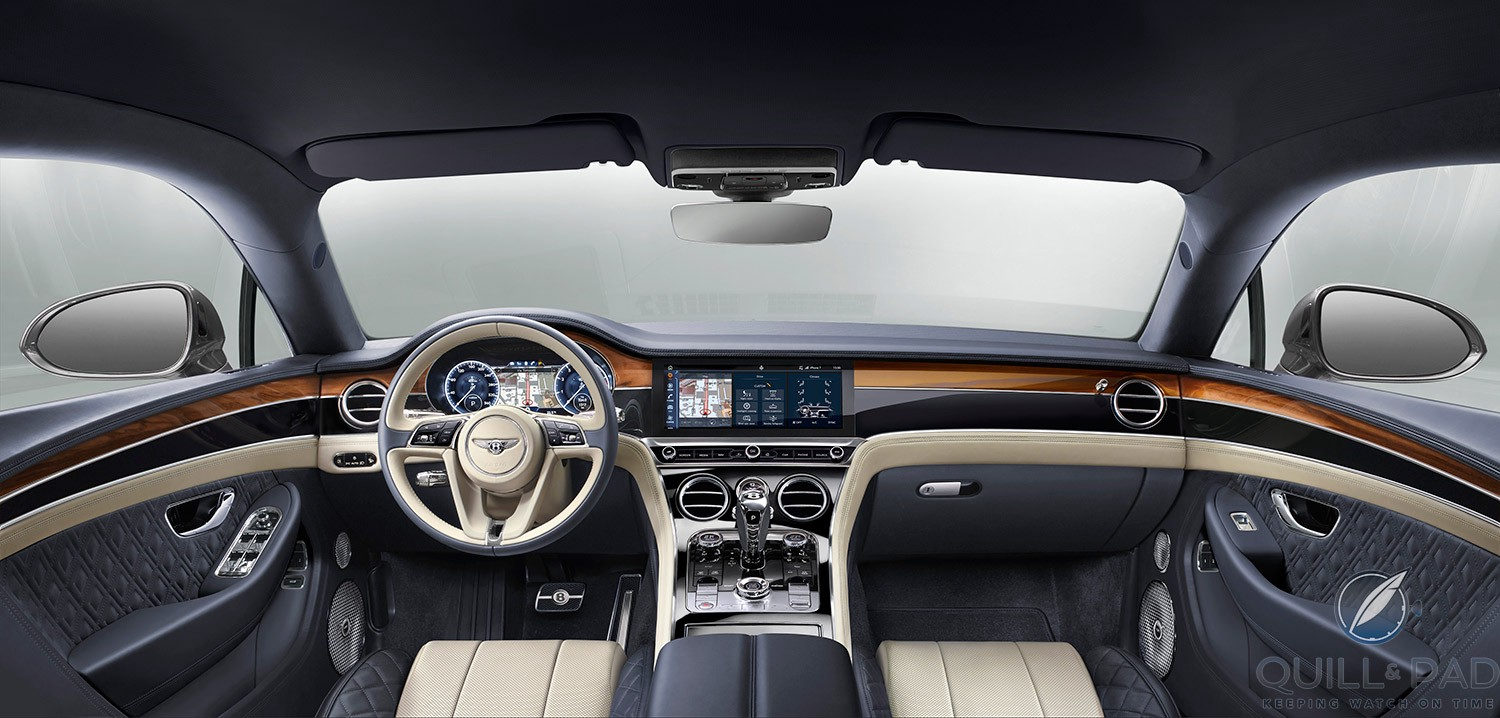 Sumptuous interior of the Bentley Continental GT 2018