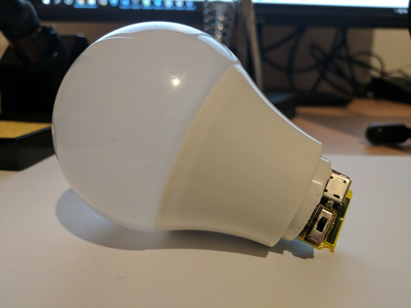 How To Make Your Very Own Wireless Extra Magic Smart Bulb Open Circuit With Battery And Light On Wire Putting Everything Together