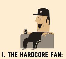 You know the Hardcore Fan. He s the one with the Raiders tattoo. He goes to  every home game because his family has had season tickets … for like 20  years. c04a4c3d8