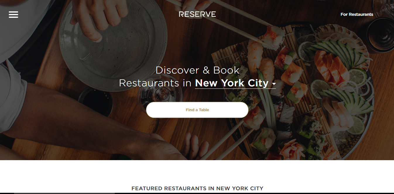 Reserve Bootstrap example website
