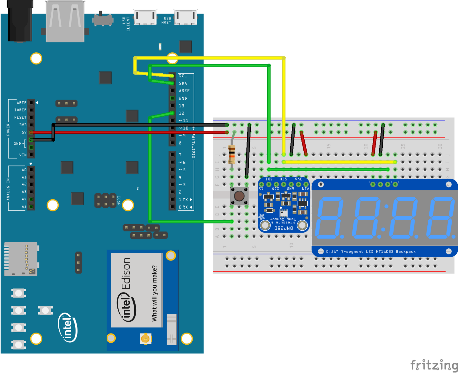 Android Things Getting To Blinky All Technology Feedspowered By Flickering Led Circuit Example Of Connecting Sensors And Displays