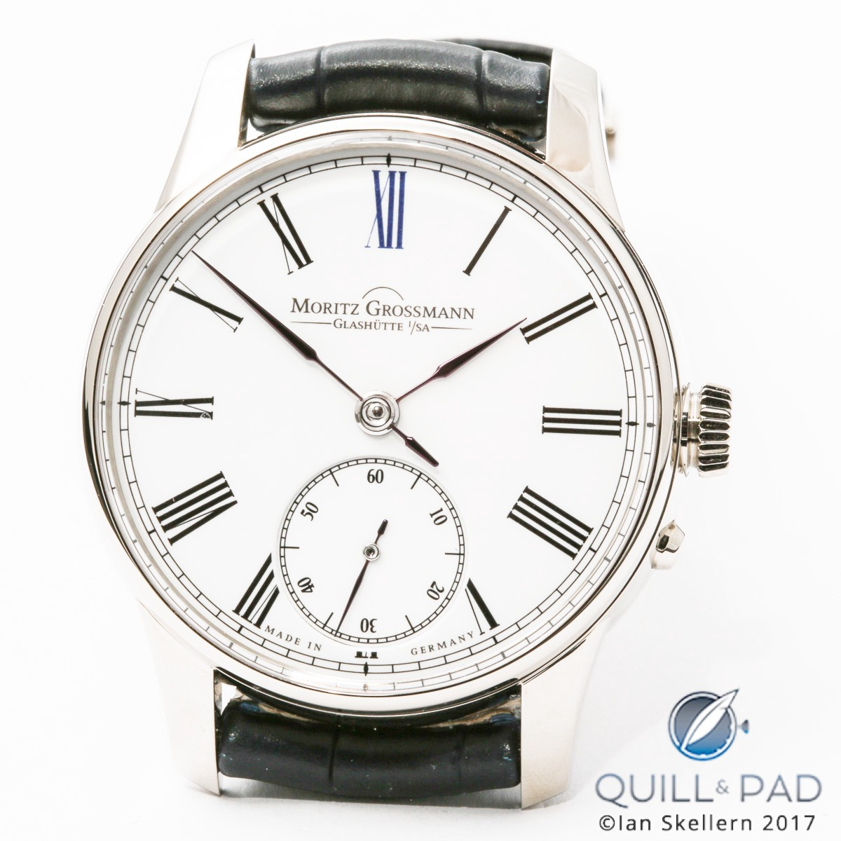 New at Baselworld 2017 by Moritz Grossmann: a 41 mm Atum model with a sumptuous oven-fired (grand feu) enamel dial