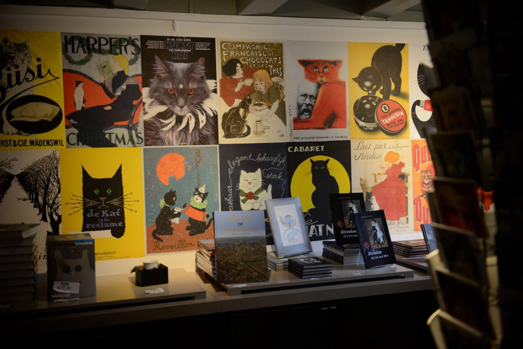 cat museum in amsterdam, small cat posters